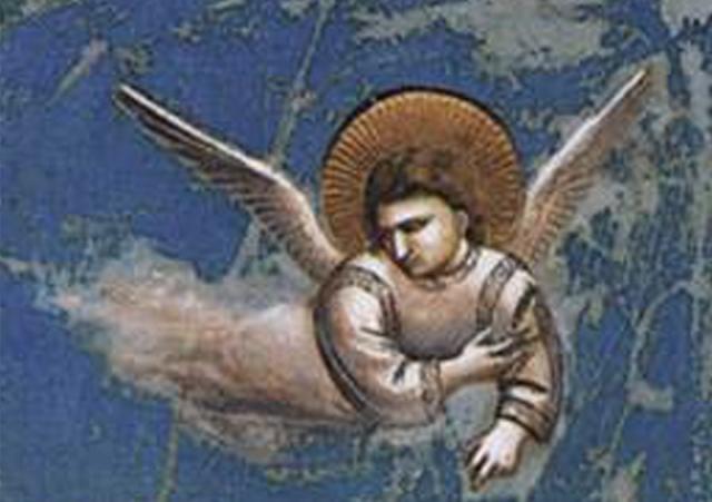 Giotto - Flight into Egypt (detail) ca 1306; Scrovegni (Arena) Chapel, Padua, Italy