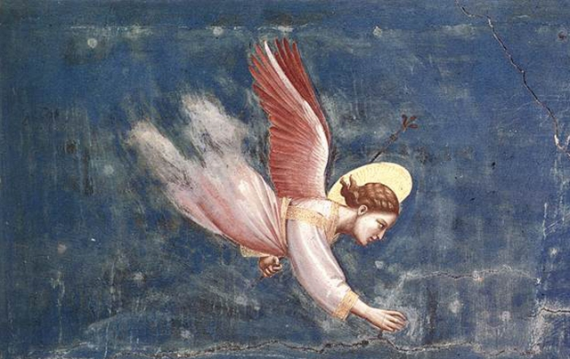 Giotto ca 1305;  from the Dream of Joachim, Scrovegni (Arena) Chapel, Padua, Italy