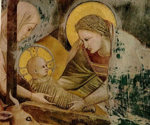 Giotto (Ambrogio Bondone) (Italian artist, 1267-1337)  Madonna and Child