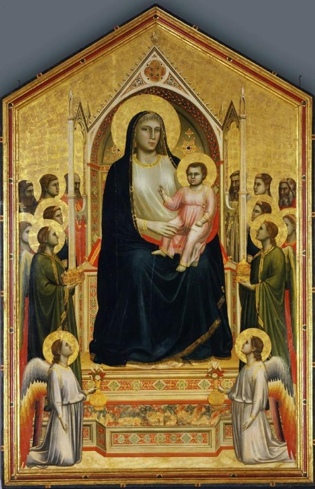 Giotto Ognissanti Madonna ca 1310 Galleria Uffici, Florence
