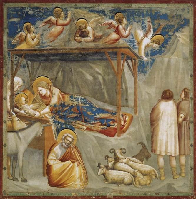 "Giotto "" Nativity"" - fresco ca 1304, Scrovegni (Arena) Chapel, Padua, Italy"