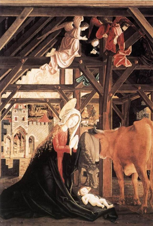 Michael Pacher Nativity St Wolfgang