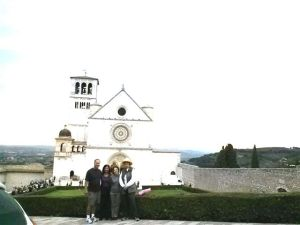 Us with San Fransesco church in the background.